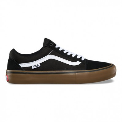 vans old skool black gum