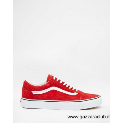 vans old skool red donna