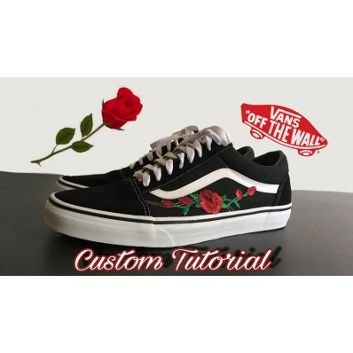vans old skool with rose