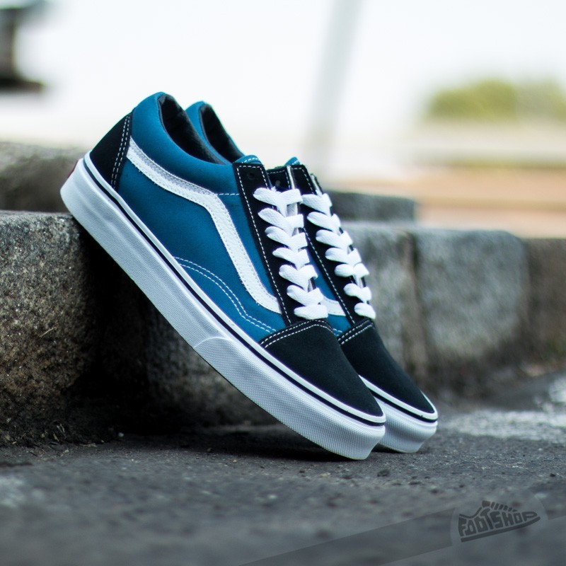 old skool vans blu