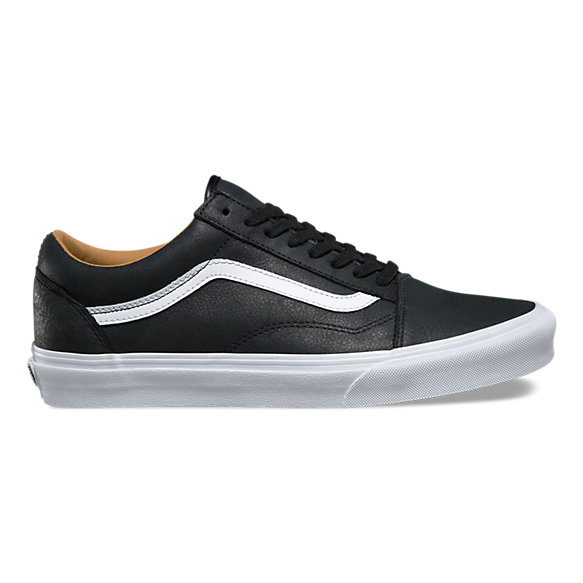 vans black leather