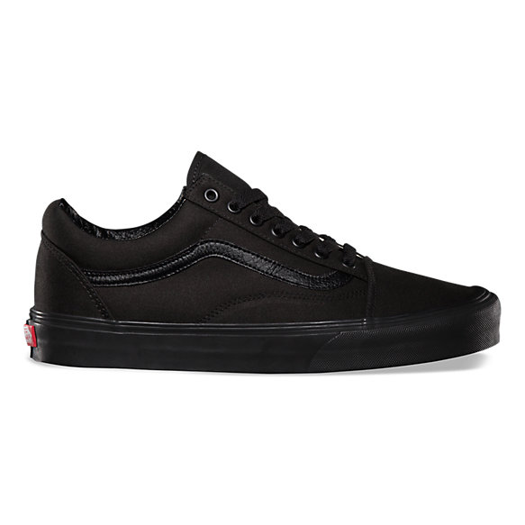vans old skool all black