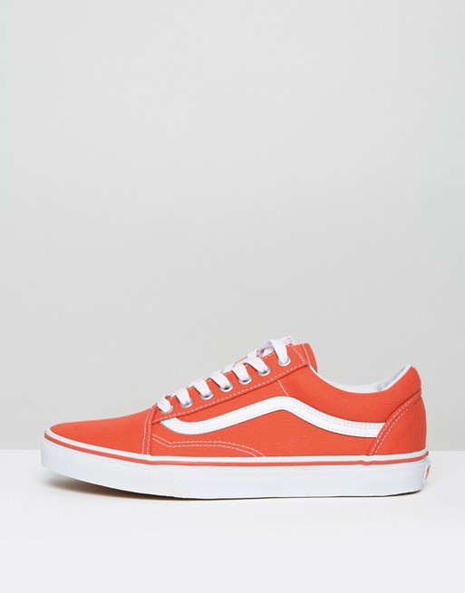 vans old skool arancioni