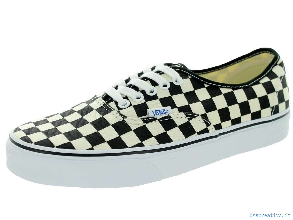 vans authentic scacchi